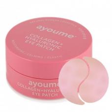 Гидрогелевые патчи с коллагеном и гиалуроновой кислотой Ayoume Collagen + Hyaluronic Eye Patch