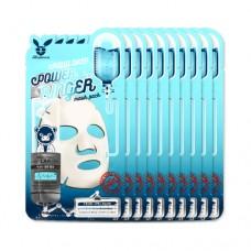 Увлажняющая тканевая маска с гиалуроновой кислотой Elizavecca Aqua Deep Power Ringer Mask Pack