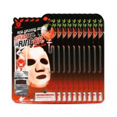Увлажняющая тканевая маска с женшенем Elizavecca Face Care Red Ginseng Deep Power Ringer Mask Pack