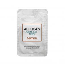Глиняная пенка для глубокого очищения пор Heimish All Clean White Clay Foam Sample