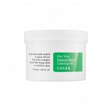 Успокаивающие пэды для чувствительной кожи CosRx One Step Green Hero Calming Pad