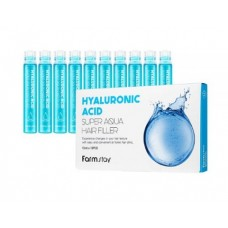 Увлажняющий филлер для волос с гиалуроновой кислотой FarmStay Hyaluronic Acid Super Aqua Hair Filler