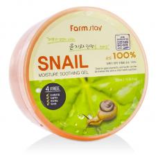 Универсальный увлажняющий гель со 100% муцином улитки Farm Stay Moisture Soothing Gel Snail