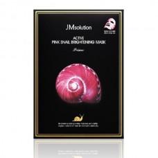 Осветляющая тканевая маска JMsolution Active Pink Snail Brightening Mask