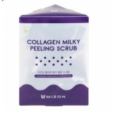 Скраб с молочными протеинами и коллагеном в пирамидках Mizon Collagen Milky Peeling Scrub