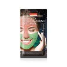 Мультимаска грязевая пенящаяся Purederm Galaxy 2X Bubble Sparkling Multi Mask Pink & Green