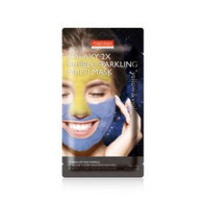 Мультимаска грязевая пенящаяся Purederm Galaxy 2X Bubble Sparkling Multi Mask Yellow & Violet